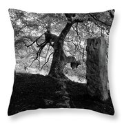 Standing Stones Near The Tree Throw Pillow