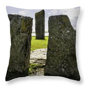 Standing Stones Of Stenness Throw Pillow