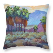 Standing Tall At Thousand Palms Throw Pillow