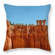 Standing Tall In Bryce Canyon Throw Pillow
