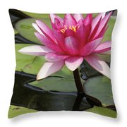 Standing Tall In The Pond Throw Pillow
