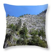 Standing Tall - The Bicaz Gorge Throw Pillow