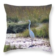 Standing There Throw Pillow