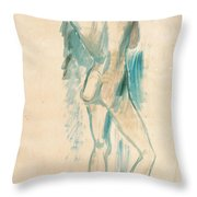 Standing Youth Throw Pillow