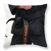 Stands With Fist Throw Pillow