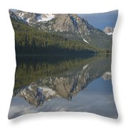 Stanley Lake Reflections Throw Pillow