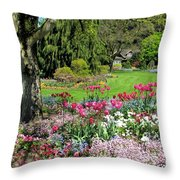 Stanley Park Garden Throw Pillow