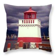 Stanley Park Lighthouse Throw Pillow