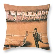 Stanleys Portable Boat Throw Pillow