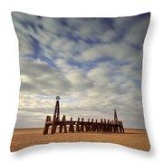 St.annes Beach, Lancashire, England Throw Pillow