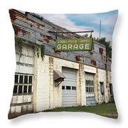 Stans Motor Service Garage Throw Pillow