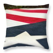 Star And Stripes Throw Pillow