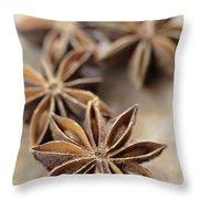 Star Anise  Throw Pillow