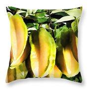 Star Apple Fruit On Tree Throw Pillow