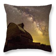 Star Barn Throw Pillow