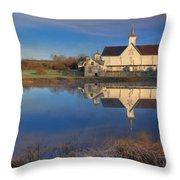 Star Barn Sunrise Throw Pillow