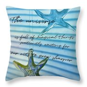 Star Bright Quote Throw Pillow