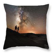 Star Crossed Lovers At Night Throw Pillow