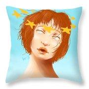 Star Eyed Throw Pillow