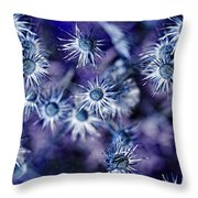 Star Flowers Throw Pillow