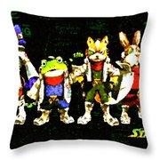 Star Fox Zero Throw Pillow