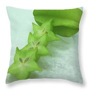 Star Fruit Is Content Of Vitamin A And C Throw Pillow
