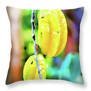 Star Fruit  Throw Pillow