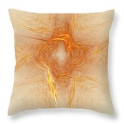 Star In Abstract Throw Pillow by Deborah Benoit