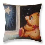 Star Light Bear Throw Pillow