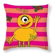 Star Monster Throw Pillow