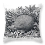 Star-nosed Mole Throw Pillow
