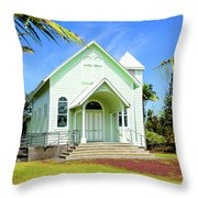 Star Of The Sea Painted Church Throw Pillow