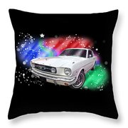 Star Of The Show - 66 Mustang Throw Pillow