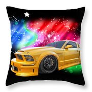 Star Of The Show - Mustang Gtr Throw Pillow