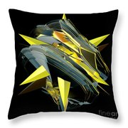 Star Of Yellow Throw Pillow