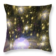 Star Particles Throw Pillow