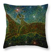 Star Rider Throw Pillow by David Lee Thompson