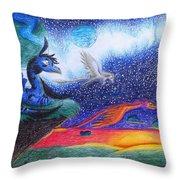 Star Rise Throw Pillow
