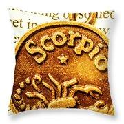 Star Sign In Scorpio Throw Pillow