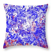Star Spangled Glamour Throw Pillow