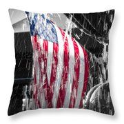 Star Spangled Splash  Throw Pillow