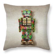 Star Strider Robot Psyc Throw Pillow