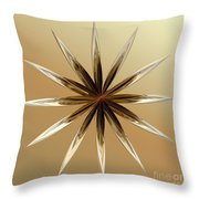 Star Tan Throw Pillow