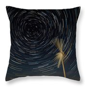 Star Trail In Hays, Ks Throw Pillow