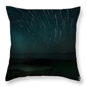 Star-trail_1 Throw Pillow
