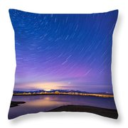 Star Trails And Auroras Throw Pillow