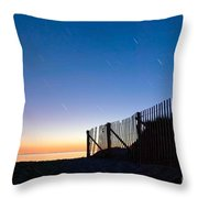 Star Trails In Wellfleet Cape Cod Throw Pillow