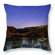 Star Trails Over Hauser Throw Pillow