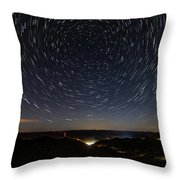 Star Trails Over Whitesburg Throw Pillow