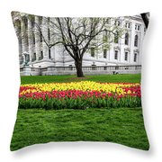 Star Tulips Throw Pillow